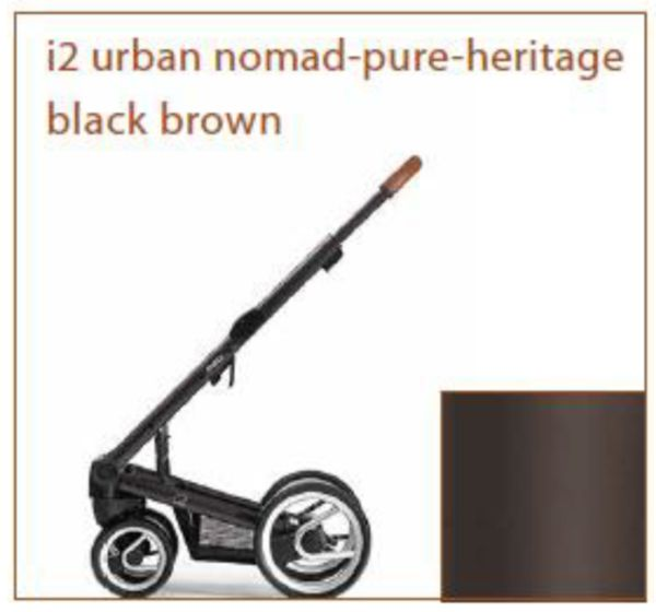 Mutsy i2 Urban Nomad/Pure/Heritage Black/Brown шаси 2018